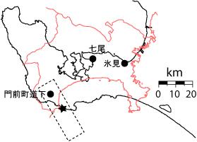 神奈川県と能登半島の比較