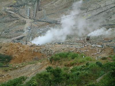 箱根大涌谷の蒸気を利用した温泉