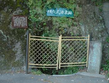 箱根湯本の横穴式源泉