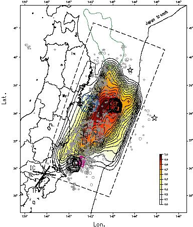 図2:トータルの放射強度分布