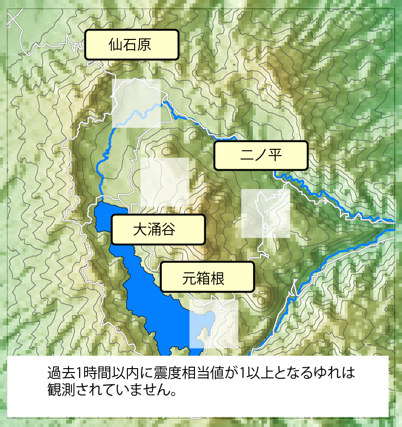 箱根の震度分布
